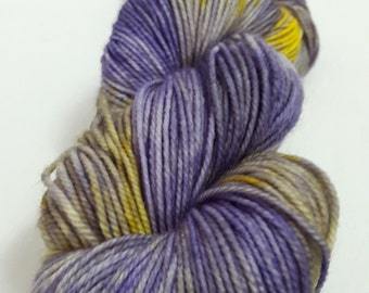 Hand Dyed Yarn - Superwash - DK weight - 100% Merino Wool - Variegated - Pretty Pansies