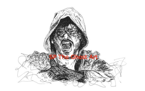 aj styles coloring pages - original art wwe aj styles njpw bullet club limited edition of
