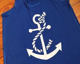 Adult size/Loose Flowy Anchor Tank