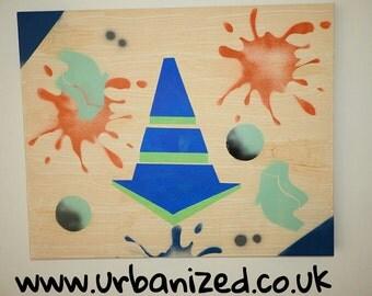 "Graffiti deep edged Canvas ""Abstract"""" Range,Urban Style."