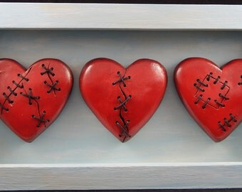 Stitched Heart Shadowbox
