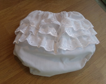 Cute baby frilly knickers / diaper cover