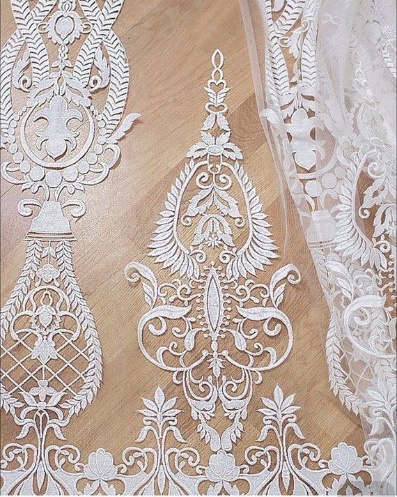 Embroidery Lace Fabric Tulle Lace Wedding Lace By Qualitylace1