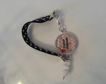 "Bracelet liberty cabochon ""Mother"