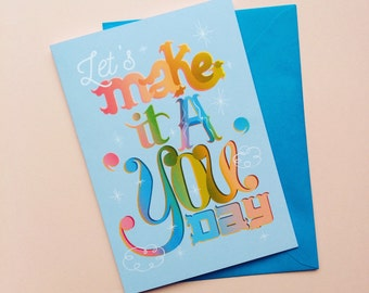Hen Do Card - Card For Mum - Rainbow Wedding Card - Gift For Her - Engagement Card - Mums Birthday Card - Rainbow Birthday Card