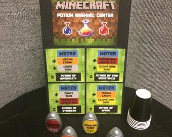 Minecraft Potion Brewing Station - Digital Format