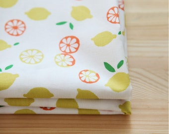 Fruit, Lemon Patterned Fabric made in Korea by the Yard