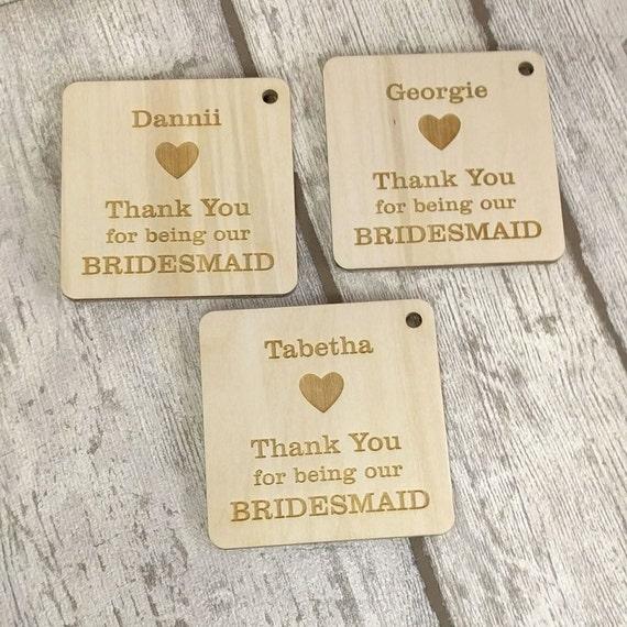 Wedding Gifts For Bridesmaids And Groomsmen Uk : Bridesmaid Gift, Thank You Gift, Personalised Bridesmaid Gift, Wedding ...