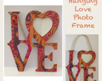 Hanging Love Photo Frame