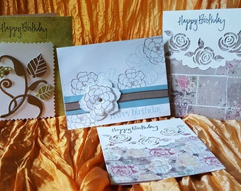 A set of 4 Birthday cards female