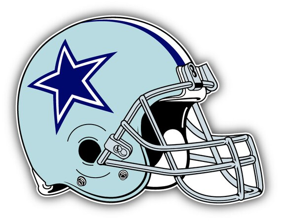 Back Bumper Football Helmets Types : Dallas cowboys nfl football helmet logo car bumper by yurmala