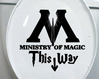 Harry Potter Decal - Toilet Seat decal - Ministry of Magic