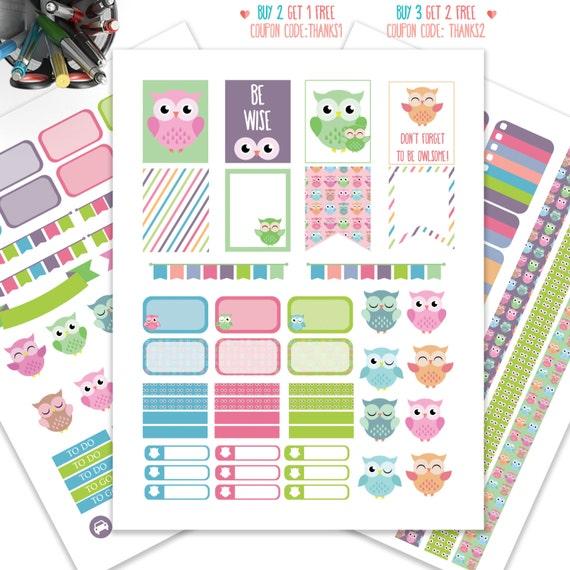 Printable Calendar Kit : Bird planner stickers printableweekly kit for erin