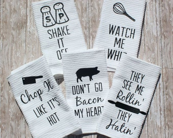 Fun Kitchen Towels! Set of 5