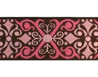 Brown and Pink Scroll Jacquard (04-112-SC-096)