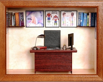 Orthopedist Miniature. Personalized gift for orthopedist. Miniature custom made orthopedist's office.