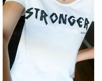STRONGER womens tee