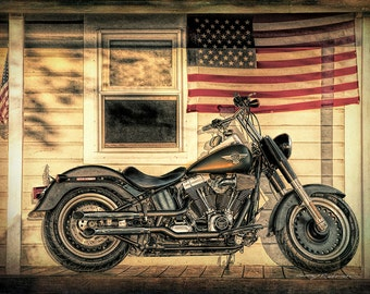 American Pride #2. Harley Davidson, Fat Boy