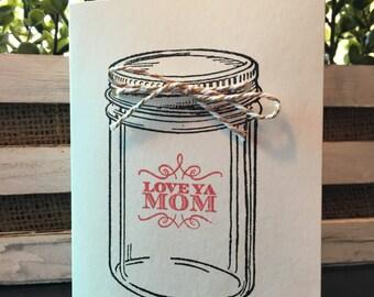 Mason Jar Mother's Day Card
