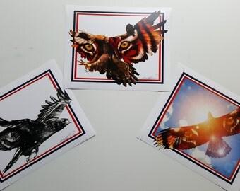 3 Eagle Series Print