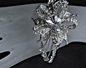 art deco bracelet,  gatsby bracelet, 1920s crystal bracelet,  crystal flower bracelet,  crystal wedding bracelet, crystal statement bracelet