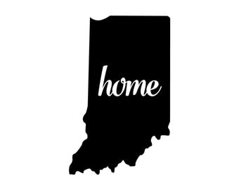 Indiana Home Decal Etsy