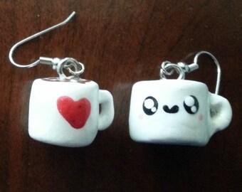 Hot chocolate earrings