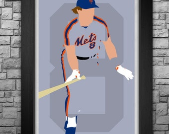 GARY CARTER minimalism style limited edition art print. Choose from 3 sizes!