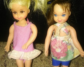 Vintage Barbie Tutti Doll And Her Friend Chris