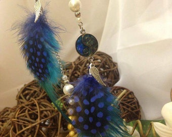 Zen Azul - Earrings asymmetrical feathers