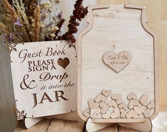 Wedding Gift Drop Box : wedding guest book drop box custom guest book jar drop box ...