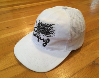 Vintage Beijing Olympics USA hat Roots Sporting Goods mesh hat white
