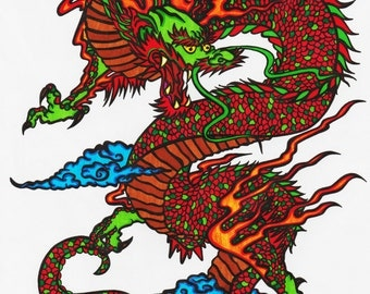 Red Dragon+Glossy print