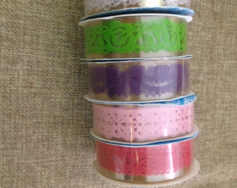 Washi tape lace for decorating and scrapbooking