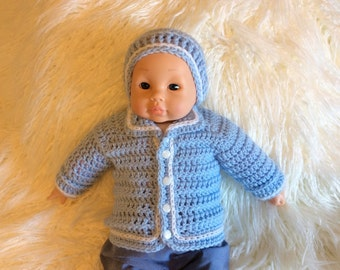 Newborn Baby Boy Sweater and Hat Set