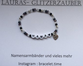 Customizable name bracelet mum