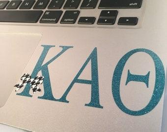 Kappa Alpha Theta Decal with a Bow