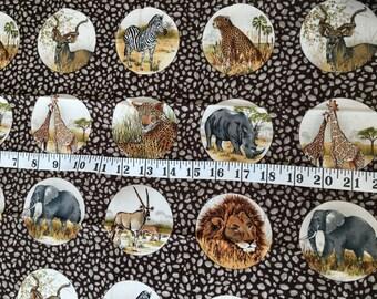 Safari 100% cotton fat quarter