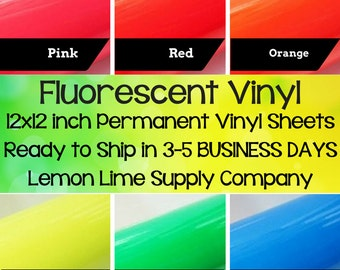 Fluorescent Vinyl Sheets/Specialty Vinyl/Permanent Vinyl/Neon Vinyl/Bright Fluorescent Sheets/Flourescent Vinyl/Fluorescent Neon Vinyl