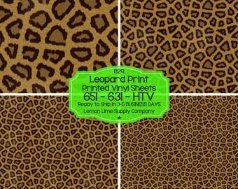 Leopard Print Vinyl/Printed Heat Transfer Vinyl/Patterned Vinyl/Printed 651 Vinyl/Printed 631 Vinyl/Printed Outdoor Vinyl/Printed HTV