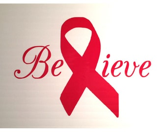 "Awareness Ribbon "" Believe """