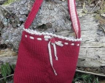 "Bag ""the little Berta"" Claret"
