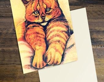 Relaxing Cat - Postcard (A6)