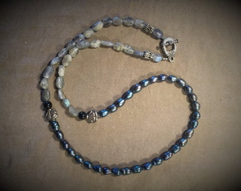 Real Freshwater Pearl and Moonstone Necklace