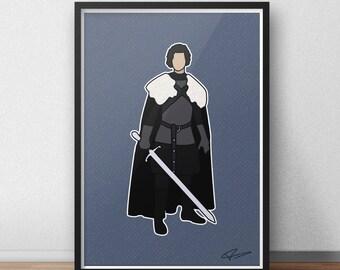Game of Thrones - Jon Snow INSPIRED Vector Art Print