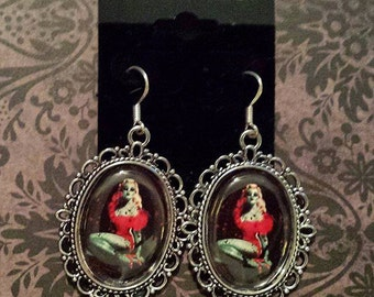 Zombie Pin Up Girl Earrings