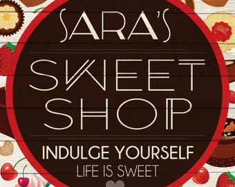 Custom Sweet Shop Sign Digital Download