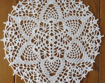 DOILY lace Crochet 24 cm white (Barbara)