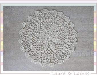 DOILY ECRU lace hook 20 cm (Adele)