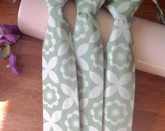 Mint pale green toddler tie / child's tie fits 18 months to 3 years page boy tie Velcro fastening
